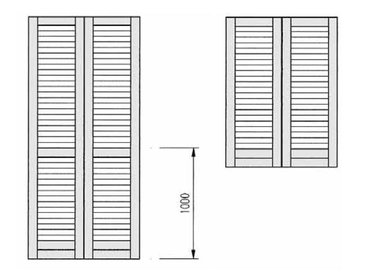 Prezzi persiane e antoni in legno fornitura serramenti e for Porta finestra alluminio prezzo